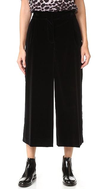 Marc Jacobs Velvet Wide Leg Pants