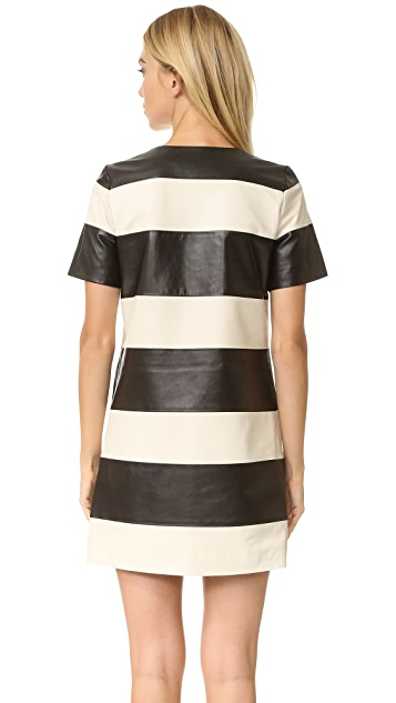 Marc Jacobs Leather Stripe Dress