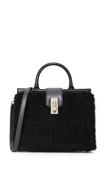 Marc Jacobs West End Shearling Small Top Handle Bag