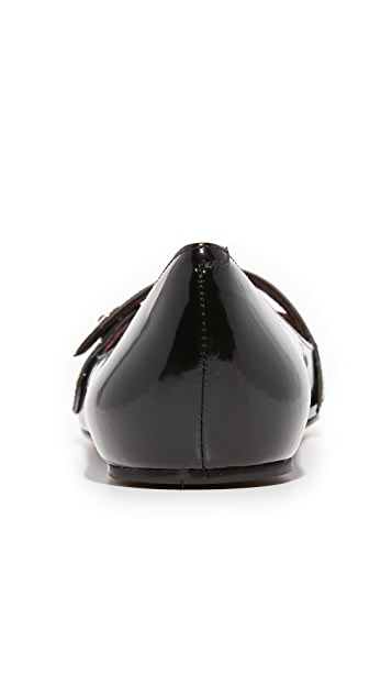 Marc Jacobs Karlie Pointy Button Ballerina Flats