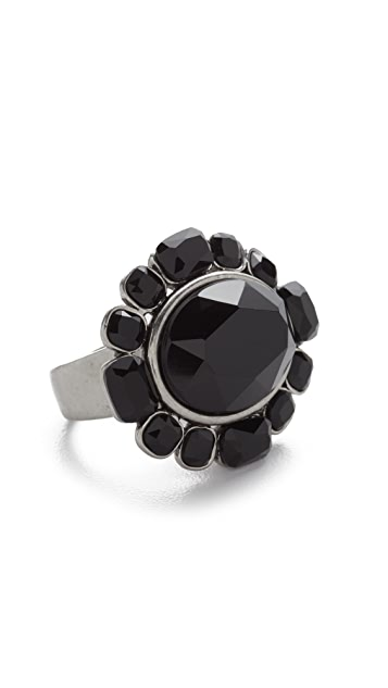 Marc Jacobs Jet Night Oval Ring