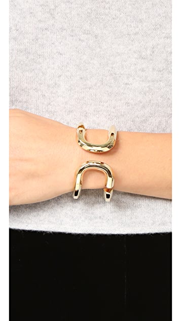 Marc Jacobs Icon Open Hinge Cuff Bracelet