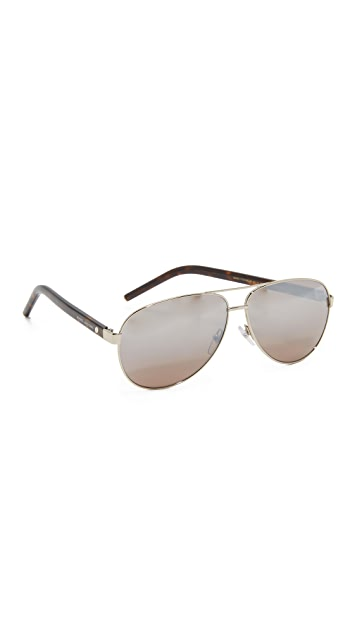 Marc Jacobs Easy To Wear Mirrored Aviator Sunglasses