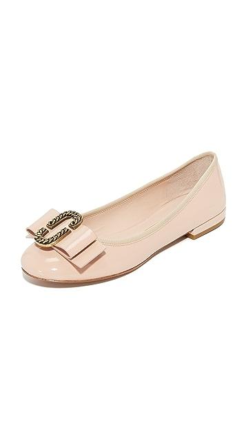 Marc Jacobs Sophie Patent Leather Ballerina Flats Gr. IT 40 tz96ytO