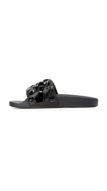 Marc Jacobs Cooper Embellished Sport Slides