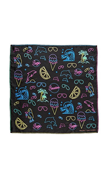 The Marc Jacobs Neon Lights Scarf
