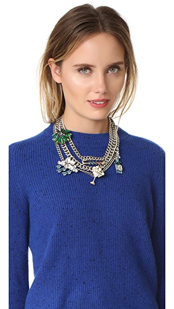 Marc Jacobs Cloudy Bubble Statement Necklace