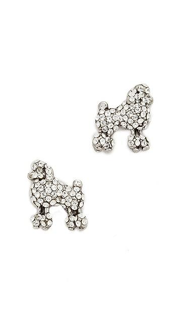 Marc Jacobs Mini Poodle Stud Earrings