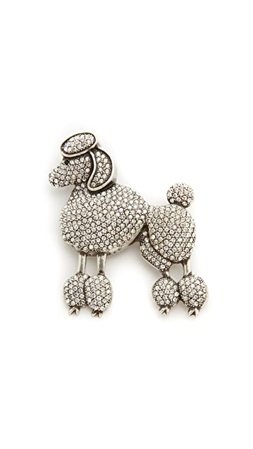 Marc Jacobs Large Poodle Brooch