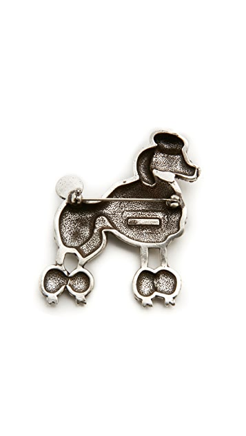 The Marc Jacobs Large Poodle Brooch