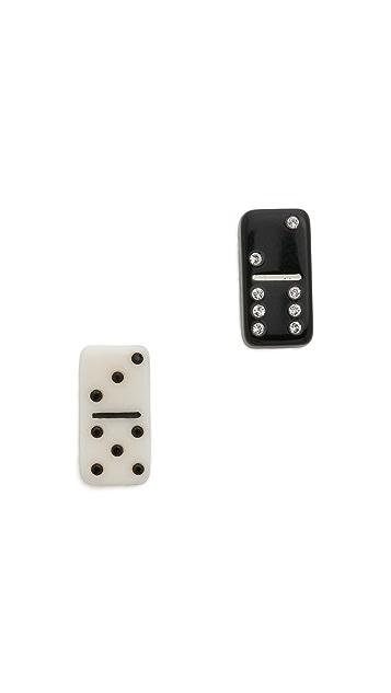 Marc Jacobs Mini Domino Stud Earrings