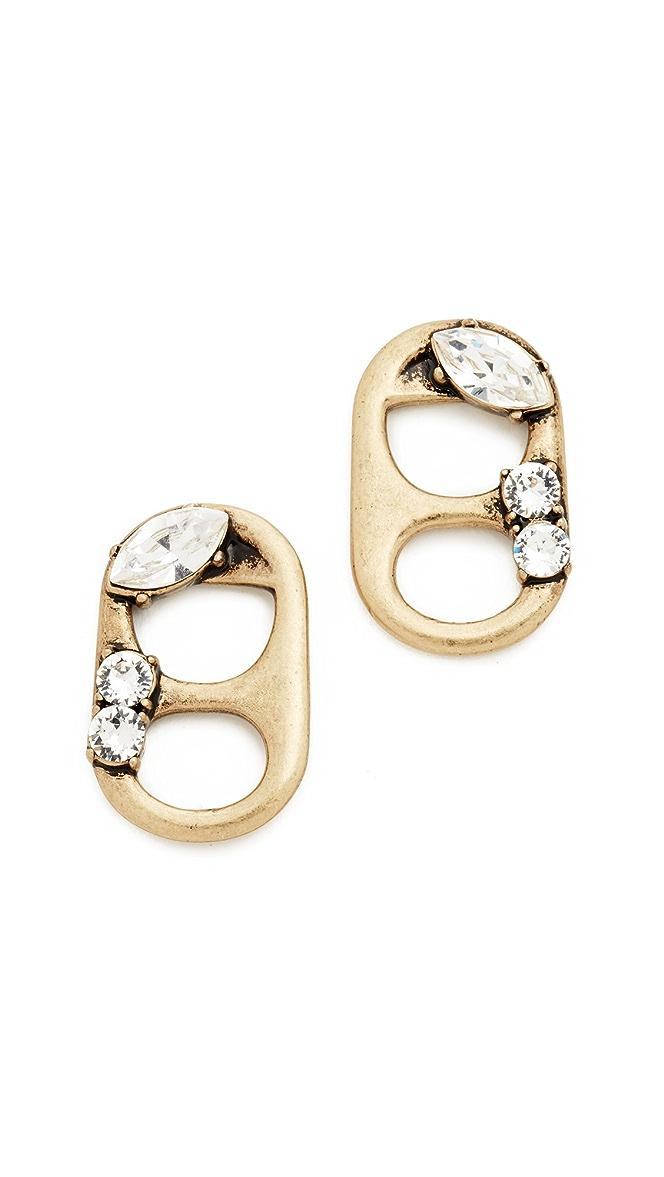 90f1be91e158 Marc Jacobs Strass Soda Lid Stud Earrings   SHOPBOP