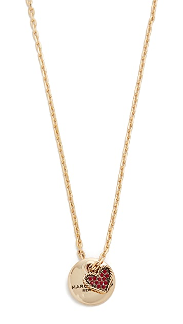 Marc Jacobs MJ Coin Pendant Necklace