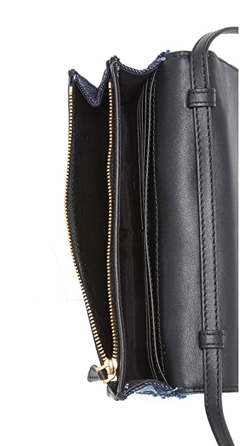 Marc Jacobs Denim Patchwork Wallet Clutch