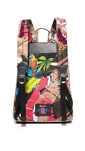 Marc Jacobs Biker Palm Parrot Backpack
