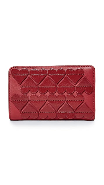 Marc Jacobs Stitched Hearts Compact Wallet