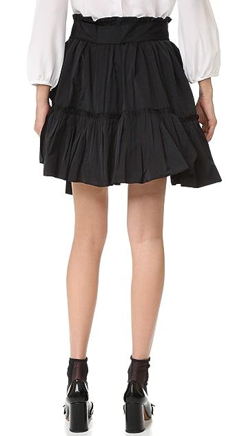 Marc Jacobs Tie Waist Ruffle Skirt