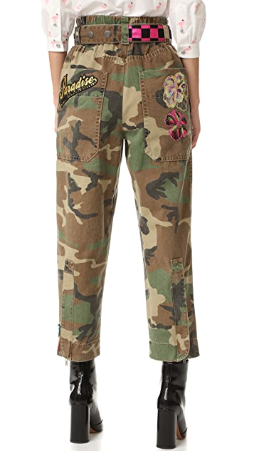 Marc Jacobs Camo Belted Pants