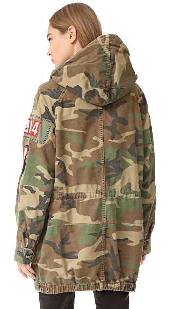 Marc Jacobs Camo Hooded Anorak