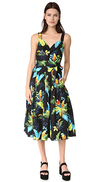 Marc Jacobs Parrot Corset Top Dress