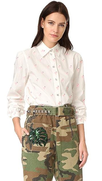 Marc Jacobs Flamingo Cotton Shirt