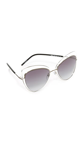 d05a57b3cd Marc Jacobs Double Rim Cat Eye Sunglasses