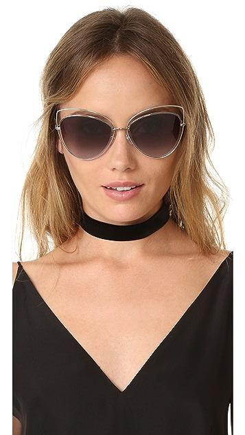 Marc Jacobs Double Rim Cat Eye Sunglasses