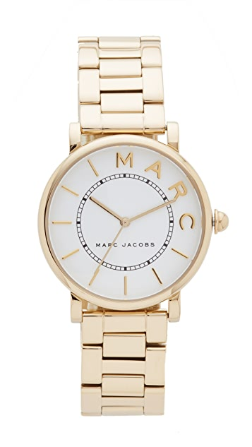 Marc Jacobs Roxy Watch - Gold/White Satin