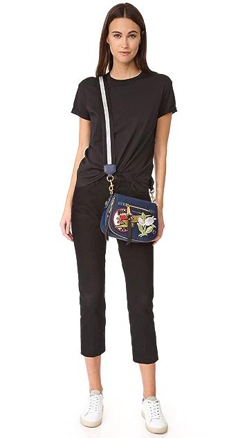 Marc Jacobs Nylon Patchwork Small Nomad Saddle Bag