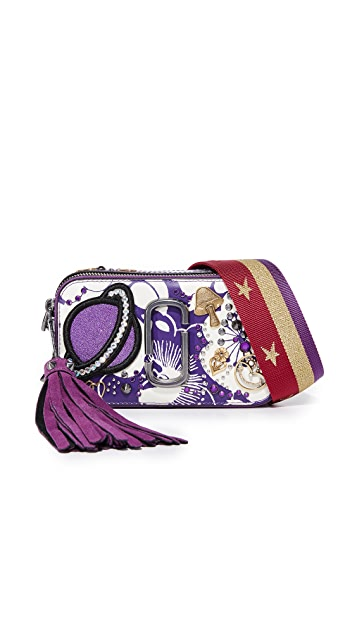 Marc Jacobs Stamped Flowers Snapshot Camera Bag