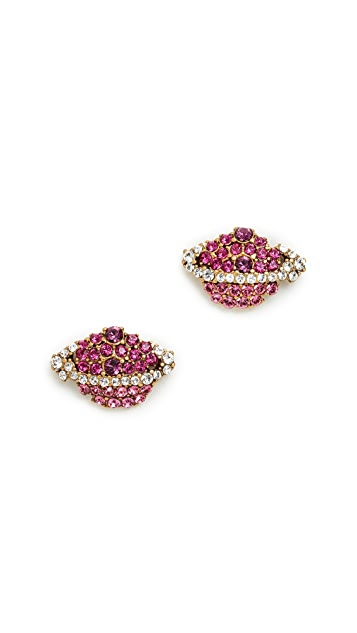 Marc Jacobs Strass Planet Stud Earrings