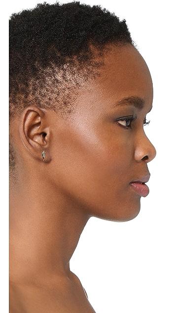 Marc Jacobs MJ Coin Lightning Stud Earrings