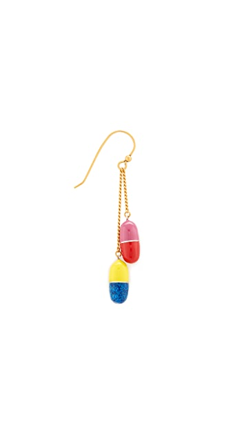 Marc Jacobs Pills Single Drop Earring