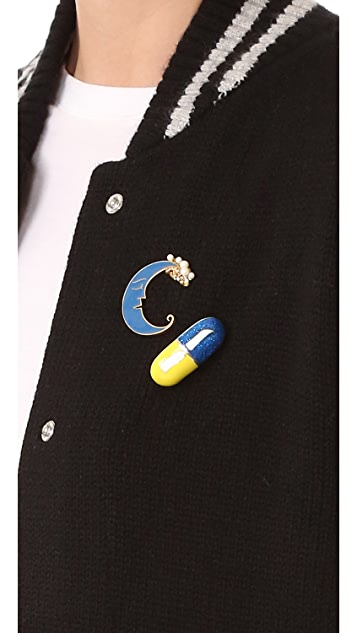 Marc Jacobs Enamel Pill Brooch