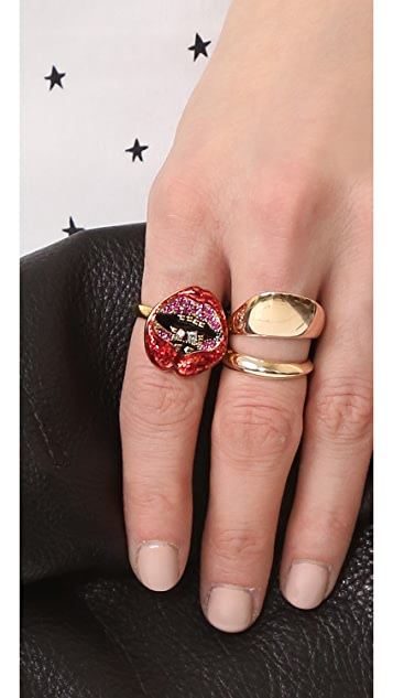 Marc Jacobs Lips in Lips Ring