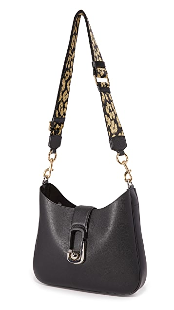 Marc Jacobs Webbed Leopard Handbag Guitar Strap