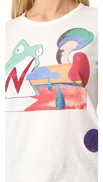 Marc Jacobs Классическая футболка с изображением лягушки