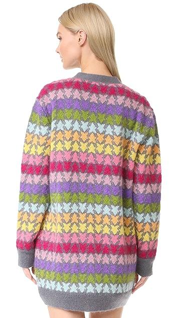 Marc Jacobs Long Sleeve V Neck Cardigan