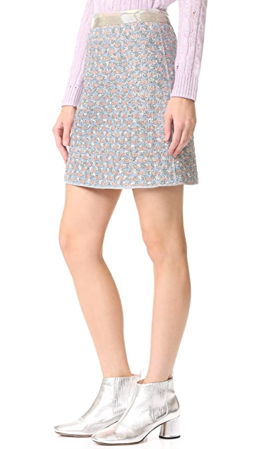 Marc Jacobs Bugle Bead Detailed Skirt