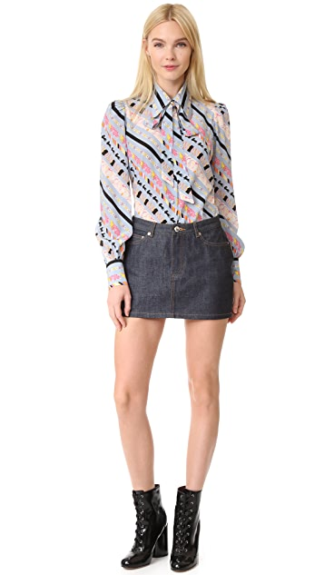 Marc Jacobs Puff Sleeve Button Down