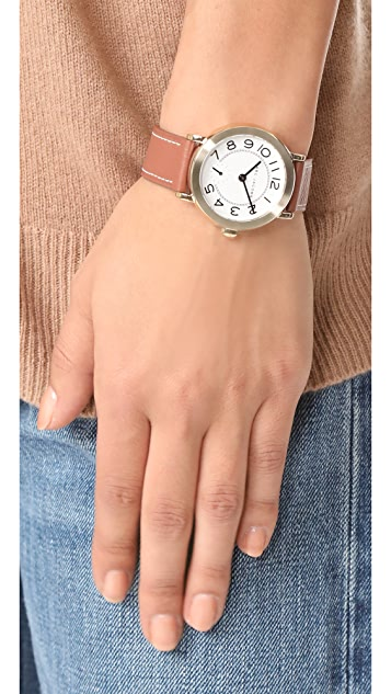 Marc Jacobs Riley Leather Watch