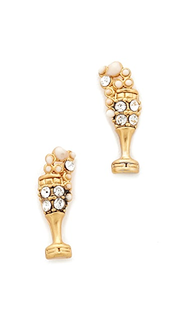 Marc Jacobs Champagne Flute Stud Earrings