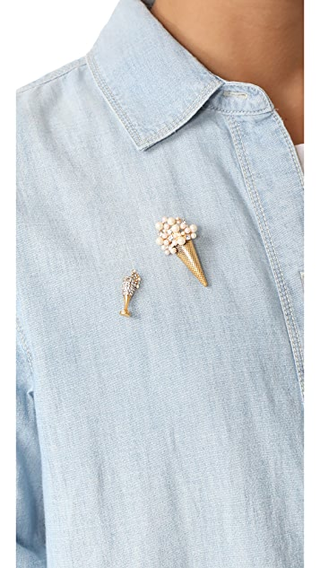 Marc Jacobs Champagne Flute Pin