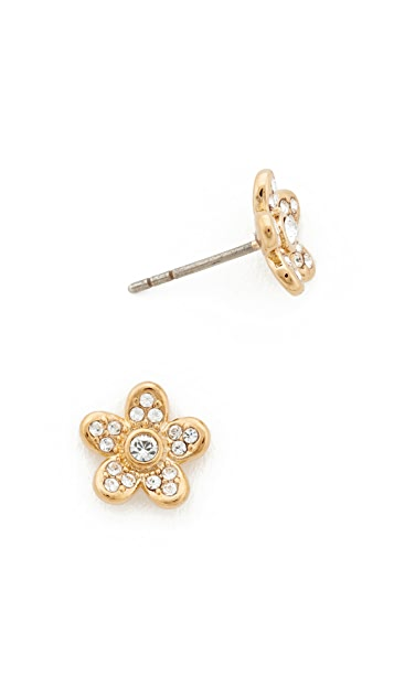 Marc Jacobs MJ Coin Flower Stud Earrings