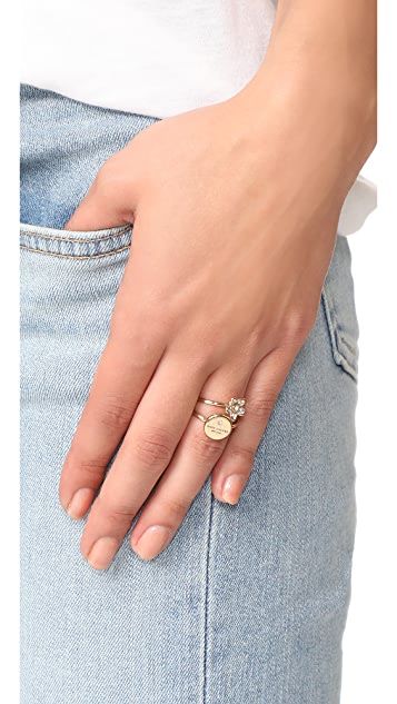 Marc Jacobs MJ Coin Charm Rings