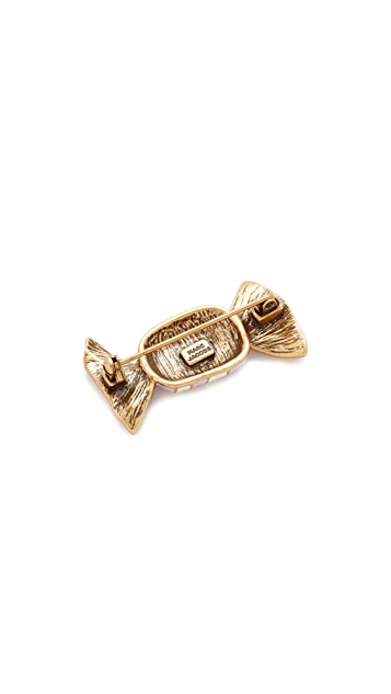 The Marc Jacobs Striped Candy Brooch