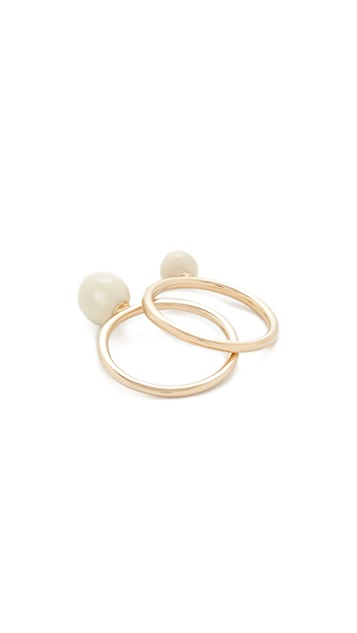 Marc Jacobs Icon Enamel Ball Ring Set