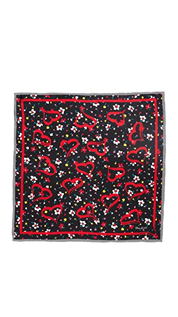 Marc Jacobs Hearts Scarf