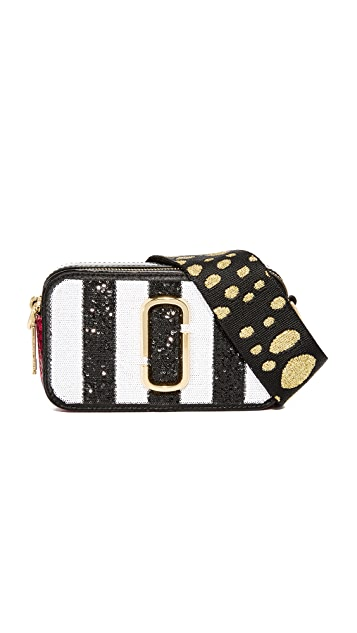 Marc Jacobs Sequin Stripes Snapshot Camera Bag