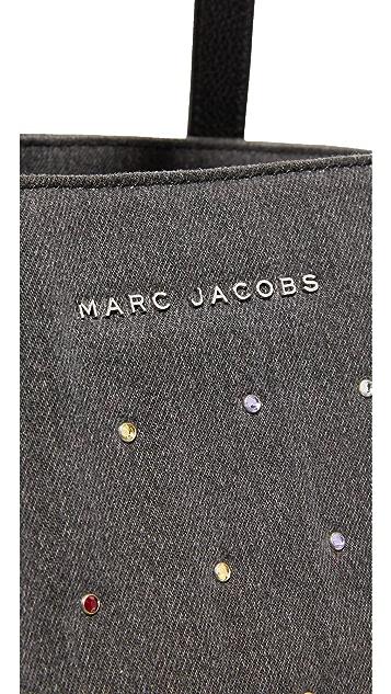 Marc Jacobs Embellished Denim Wingman Tote